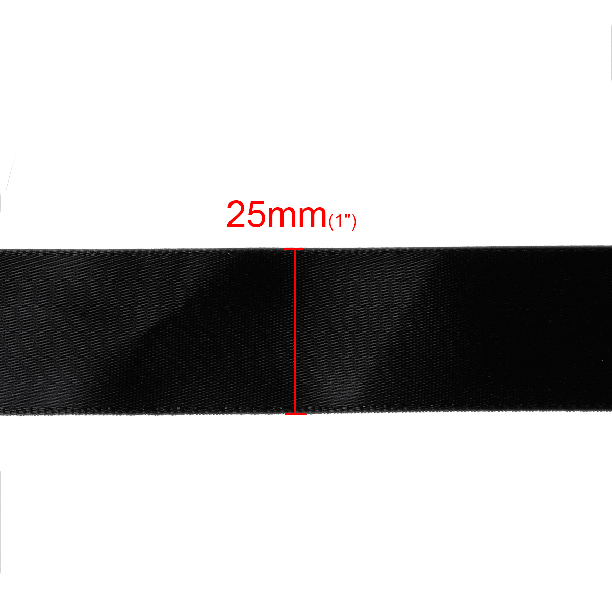Black headbands for crafts - Terylene Satin Ribbon Gift Packing For Diy Crafts Headband Bow Wedding Party Black 25mm 1