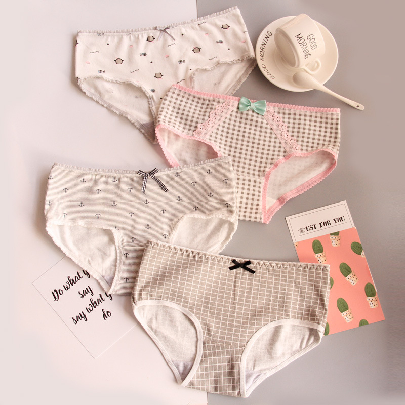 4pcs/lot 2019new Fashion Kids Panties Girls Briefs Female Child Underwear Lovely Cartoon Panties Children Clothing Wholesale Panties