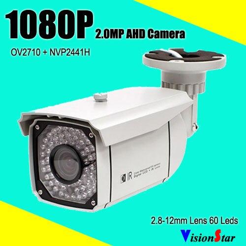 60pcs IR Leds Security Systems Survelliance Camera 1080P AHD Varifocal Lens 2 8 12mm IP66 Waterproof