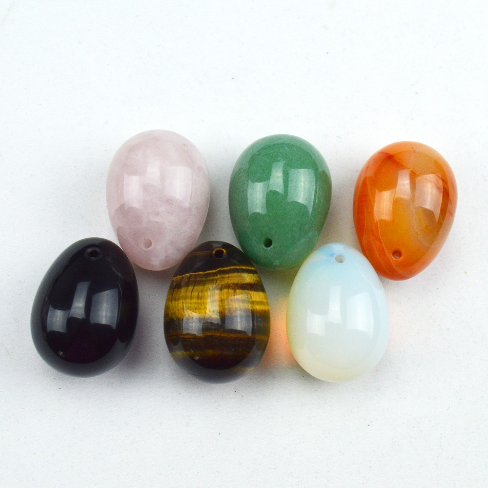 6 Pcs small 30*20mm jade egg for kegel exercise chakra massage pelvic floor muscles vaginal exercise yoni  ben wa ball