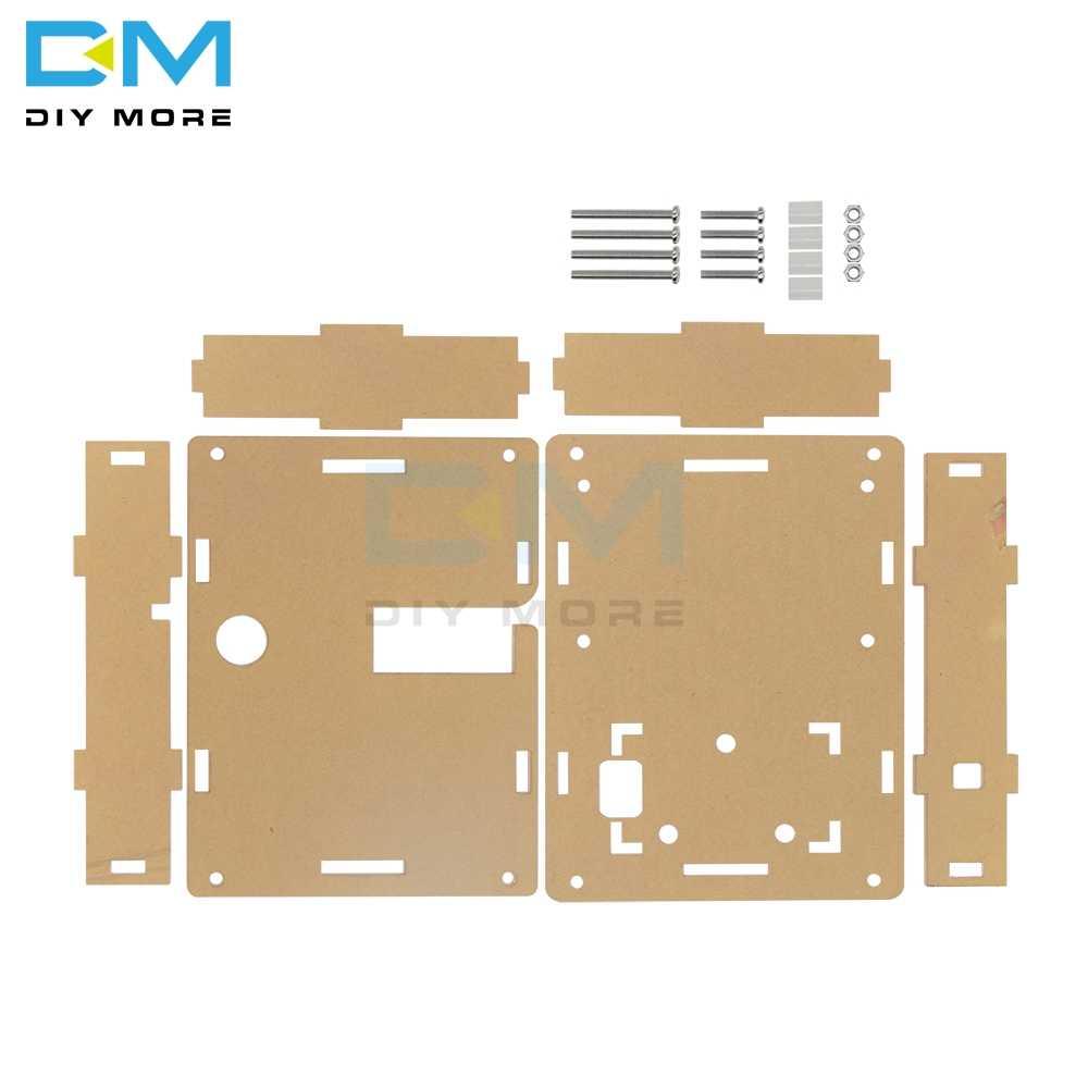 Caixa de acrílico transparente habitação para LCR-T4 m328 transistor tester capacitância esr mega328