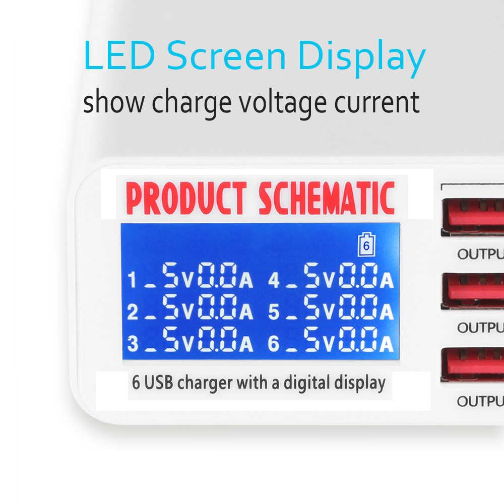 6 شاحن يو اس بي سريعة تهمة 3.0 الهاتف المحمول وحدة شاحن USB شحن الطاقة محول ل iphone X XS 8 8P xiaomi samsung S8 S9