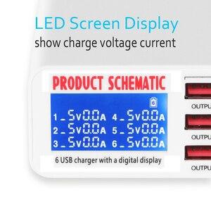 Image 2 - Универсальный USB адаптер для быстрой зарядки 3,0, 6 USB портов, 40 Вт, 5 В, 6 А