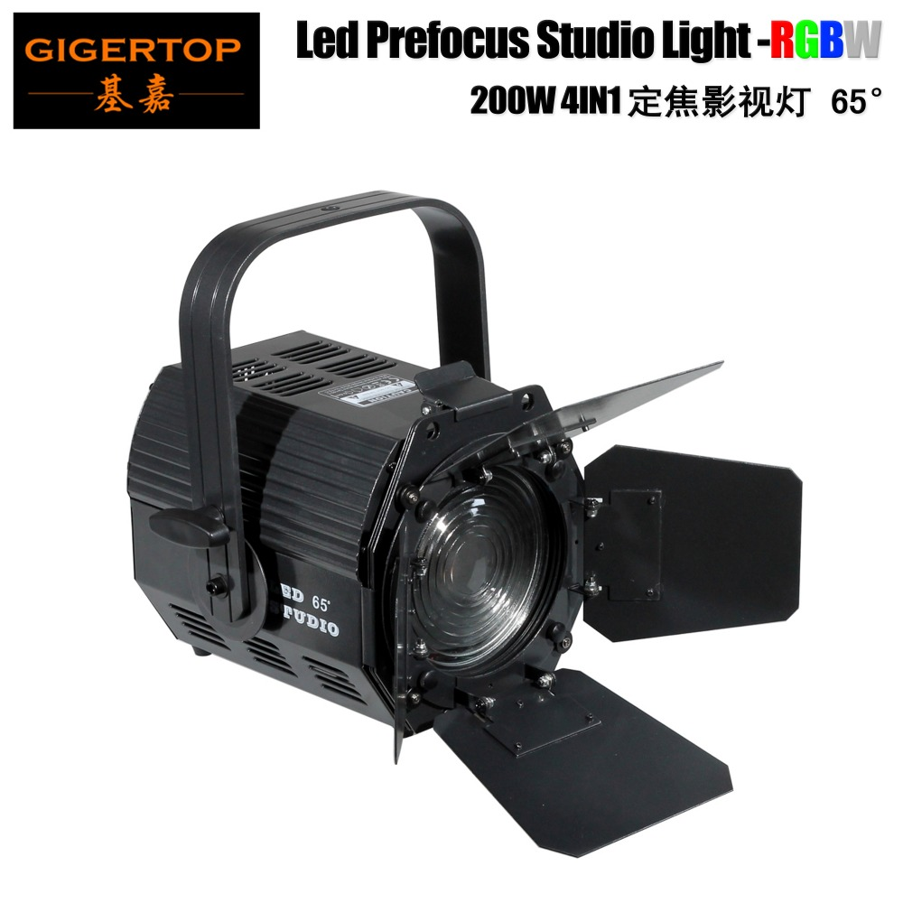 Professional Stage Audience Light 200W Led Studio Lighting RGBW COB 4IN1 Color Heating Pipe Cooling System Power in/out SocketProfessional Stage Audience Light 200W Led Studio Lighting RGBW COB 4IN1 Color Heating Pipe Cooling System Power in/out Socket