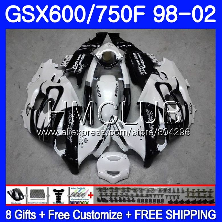 Bianco corona Bodys Per SUZUKI KATANA GSXF 750 600 GSXF750 98 99 00 01 02 2HM. 8 GSX750F GSXF600 1998 1999 2000 2001 2002 Carenatura