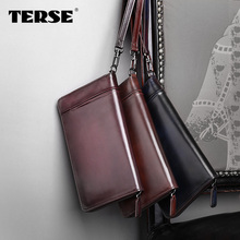 TERSE_Handmade calfhide men purse high quality newest bag big capacity luxury fashion style factory to customer service