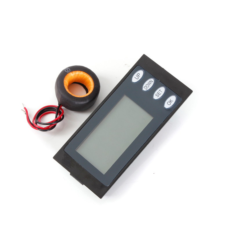 AC80-260v 100A Digital LCD AC Multifunction power meter monitor Voltage Current Energy power working time meter &CT coil free shipping sdm630 modbus rs485 din rail kwh three phase energy meter 100a solar pv energy meter rtu digital meter