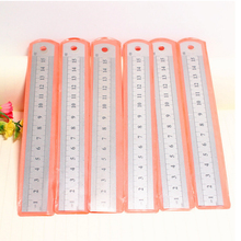 Drafting Supplies hardware tools long ruler 30cm/15cm/20cm double engraved for office school metal kids