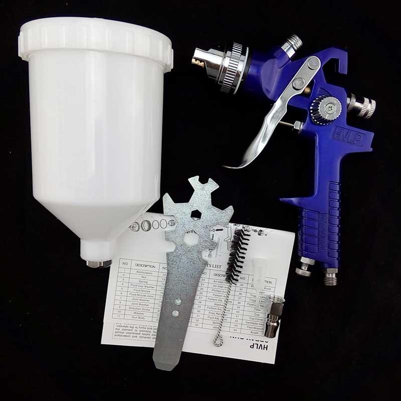 pneumatic air tool spray paint gun HVLP nozzle 1.7mm for car furniture