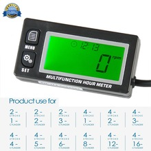Функциональный цифровой индукционный бензиновый двигатель, счетчик часов, тахометр, напоминание о обслуживании, счетчик, счетчик, мотоцикл, газон, RL-HM028