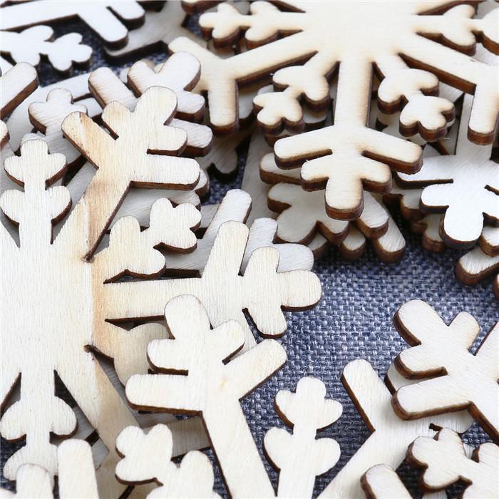 10 stücke Weihnachten Hängende Ornamente Dekoration Holzschmuck ...