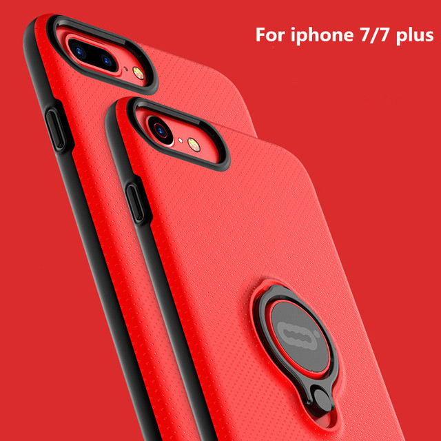 ICONFLANG for iphone 7 case with ring holder for iphone 7 plus Cover Colorful Protective Shell Hard PC Phone accessories