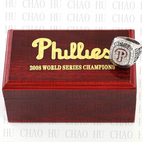 Replica 2008 Philadelphia Phillies World Series Championship Ring Baseball Rings With High Quality Wooden Box Best