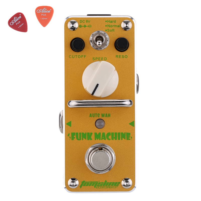 AFK-3 Funk Machine Auto Wah Electric Guitar Effect Pedal Aroma Mini Digital Pedals Effects True Bypass Guitar Parts aov 3 ocean verb digital reverb electric guitar effect pedal aroma mini digital pedals with true bypass guitar parts