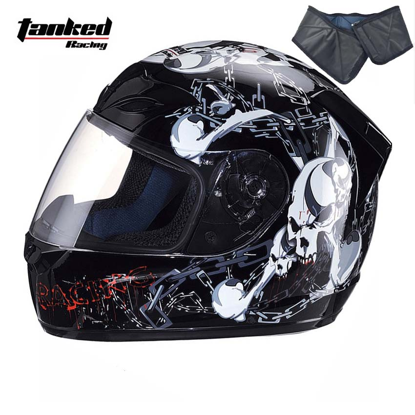 Tanked Racing T112 full face motorcycle helmet motorbike drk biker safety moto off road motocross helmets lexin 2pcs max2 motorcycle bluetooth helmet intercommunicador wireless bt moto waterproof interphone intercom headsets