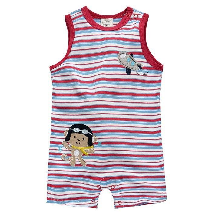 f412cddb0 جديد 2019 روبا بيبي وصفت الصيف جودة 100% القطن المولود الجديد الفتيان  الملابس الملابس الزواحف حللا الطفل السروال القصير الفتيان