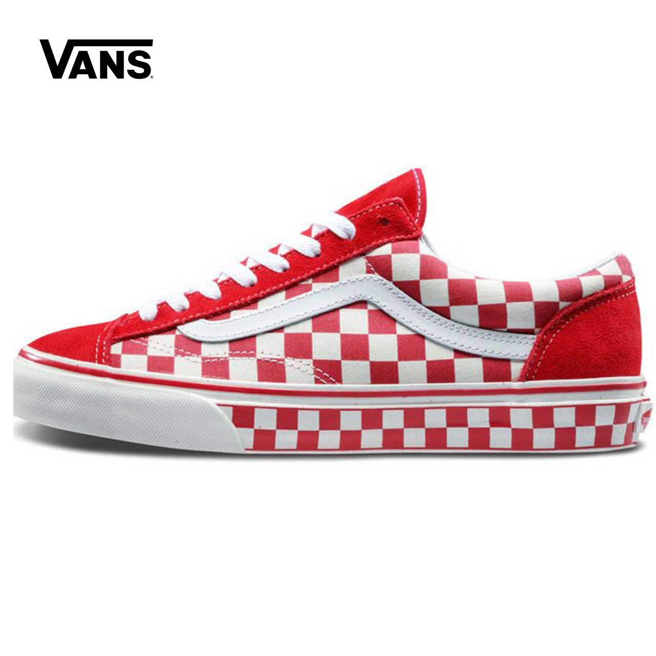 Original Vans Classic Style 36 Checkerboard Racing Red Skateboarding Shoes  Low-top Men s   Women s Sneakers Canvas VN0A3DZ3T1D e11a7bc76