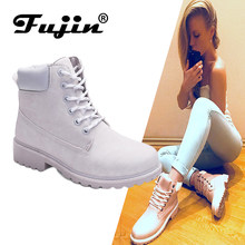 Fujin 2019 SPRING Winter plush Warm Women winter boots shoes Wedge Casual Shoes Outdoor Waterproof Height Increasing Snow Boots(China)