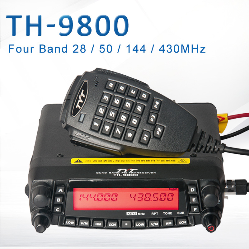 General <font><b>TYT</b></font> <font><b>TH</b></font>-<font><b>9800</b></font> Pro 50W 809CH Quad Band Dual Display Repeater Scrambler VHF UHF Transceiver Car Truck Ham Radio 32793577146 image