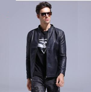 2018 New Winter Man Fashion Motorcycle Solid Color Jackets Warm Stand Collar Casual Leather Jacket Male Plus Size Slim Coat