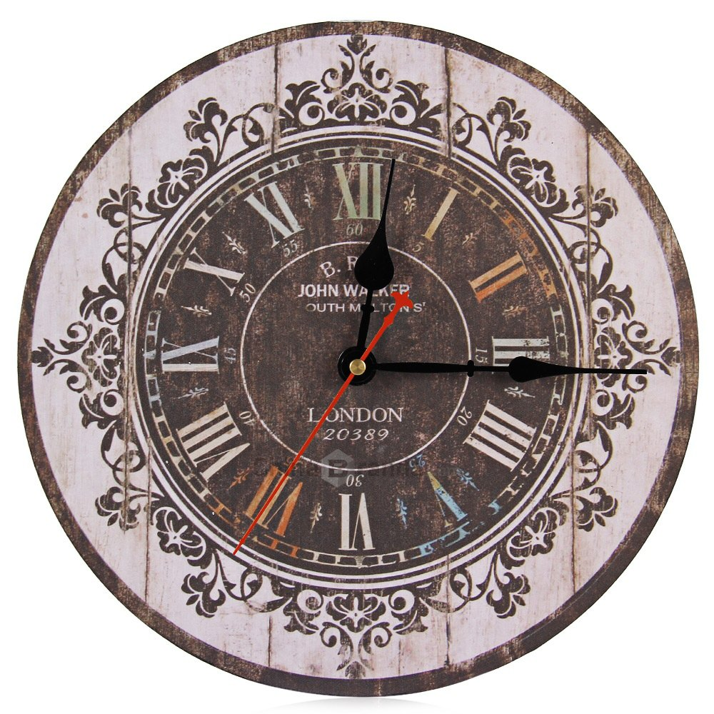 Large Wall Clock Tracery Vintage Rustic Shabby Chic Home Office Cafe Decor Art Hot Sale Silent