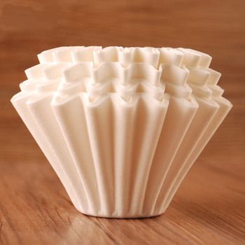 FeiC 50pcs Basket Coffee Filters for 1-4cups No bleach environmental filter paper Natural Brown for drip coffee for barista 3
