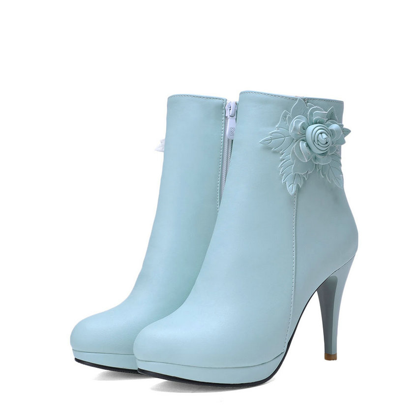 bianco 34 donna caviglia piattaforma elegante donna Beige Esveva Slim scarpe tacco rosa rotonda stivali 43 blu fiore rosa alto moda punta grande a1xP0