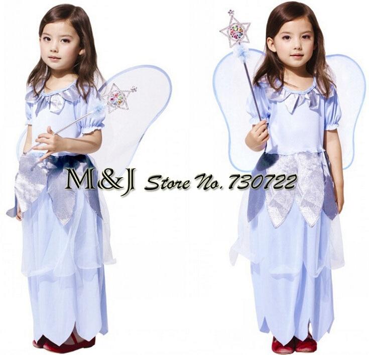 22d508f8c شحن مجاني! هالوين أداء مرحلة لعب الأميرة اللباس تأثيري الملابس ملابس  الأطفال زهرة فتاة فساتين