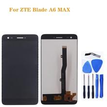 Para zte lâmina a6 max lcd tela de toque digitador assembléia 100% novo display para zte a6 max kit reparo