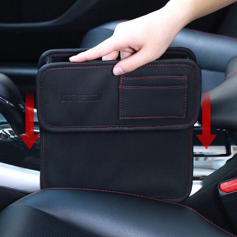 Caja de almacenamiento del asiento del coche de MEIDI caja de bolsillo del organizador de Autostoel para el soporte de la taza de almacenamiento de la grieta del asiento Material del PVC