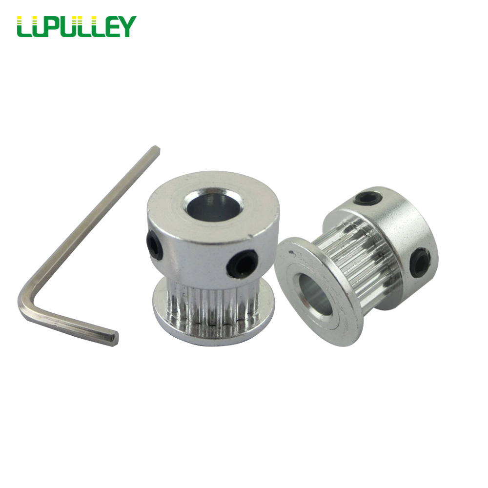 LUPULLEY 10PCS GT2 Timing Belt Pulley 20 Teeth 16T Bore 4mm/5mm 2GT Pulley Wheel Aluminium For Synchronous Belt 6mm Width