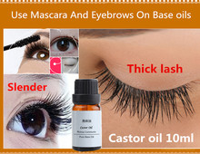 100% Koldtryk Zero Pure Castor Oil til Øjenvipper Eye Brows Hair Growth Ansigtspleje og Håndsæbe Materiale Body Massage