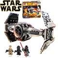 Звездные войны БЕЛА 10373 модель строительство комплекты совместимы с lego city Сила Пробуждается TIE Усовершенствованный Прототип истребителя блоки игрушки