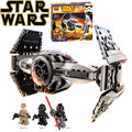 Star wars BELA 10373 model building kits compatible with lego city The Force Awakens TIE Advanced Prototype fighter blocks toys