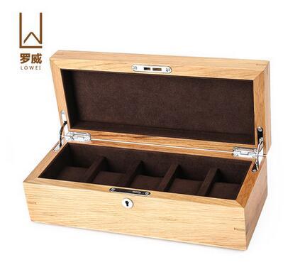 luxury oak 5 slot font b watch b font boxes wood font b watch b font