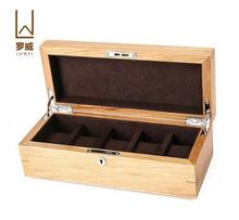 luxury oak 5 slot watch boxes wood watch storage box watch gift box for watches jewelry organizador MSBH004g
