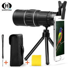High Definition Telescope 16x52 Dual Focus  Optic Lens phone lens Monocular Scope Multi Coating Lenses For iphone Huawei Samsun