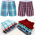 Classic Plaid Men Boxer Shorts Mens Underwear Trunks Cotton Cuecas Underwear boxers for male Woven Homme Boxer Arrow Panties