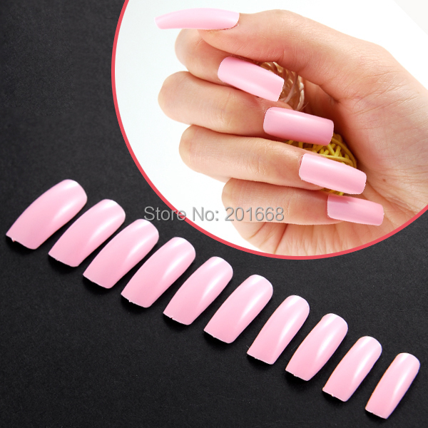 Box set 100pcs Extra long full cover Color False Nail tips acrylic ...
