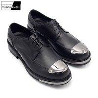 Новые свадебные туфли из натуральной кожи, мужские туфли на толстой платформе со шнуровкой, мужская обувь, вечерние модельные туфли, роскош