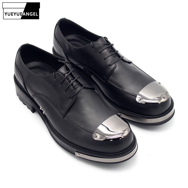 New Wedding Genuine Leather Shoes Men Thick Platform Lace Up Men Footwear Party Dress Shoes Luxury Man Shoe Plus Size US4.5-11.5New Wedding Genuine Leather Shoes Men Thick Platform Lace Up Men Footwear Party Dress Shoes Luxury Man Shoe Plus Size US4.5-11.5