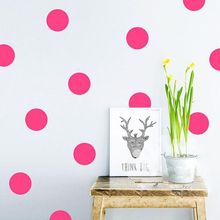 52 PCS/ Lot Home Decor 3/4/7 cm Polka Dots Circles Vinyl Wall Stickers Mobile Stickers Cabinet Refrigerator Decal Wall Stickers
