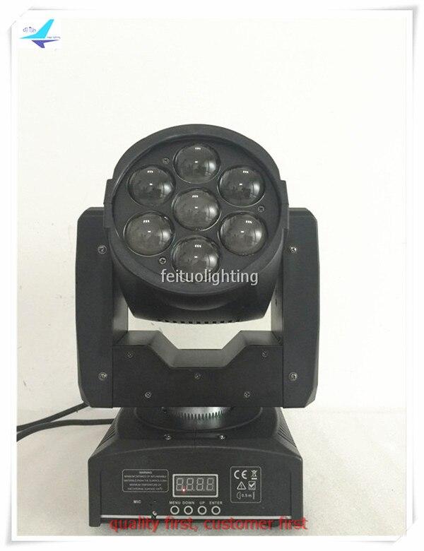 Бесплатная доставка 2 шт./лот Новый зум светодиодный мини 7x12 Вт перемещение головы мыть Лира свет RGBW 4in1 Party DJ disco lumiere OSRAM DMX Освещение