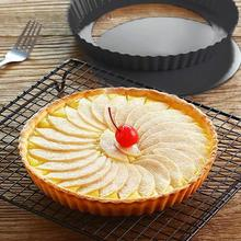 Round Removable Loose Bottom Quiche Pan 8.8 Inch Non-Stick Tart Pie Pan Baking Tool Bakeware Dishes Cake Pans