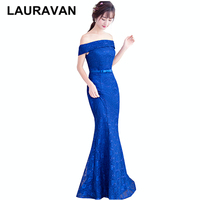 sexy red purple black blue boat off shoulder sleeveless modest women mermaid dress prom dresses unique gown new arrival 2019