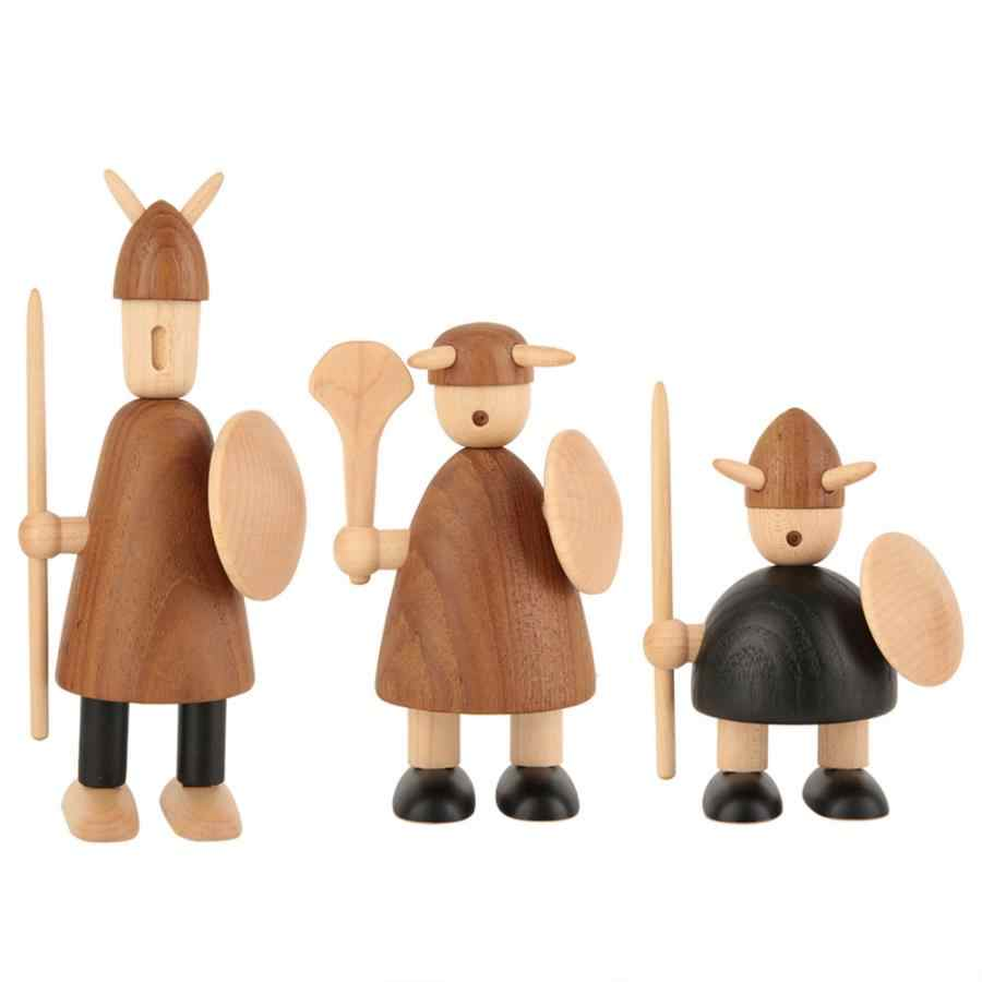 Decoration Home Decoration Accessories Nordic Pirate Carving Character Figurines Kids Gifts Child Toys Statue For Home