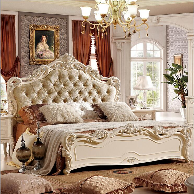 US $790.0 |modern european solid wood bed Fashion Carved fabric french  bedroom furniture pfy10180-in Beds from Furniture on Aliexpress.com |  Alibaba ...