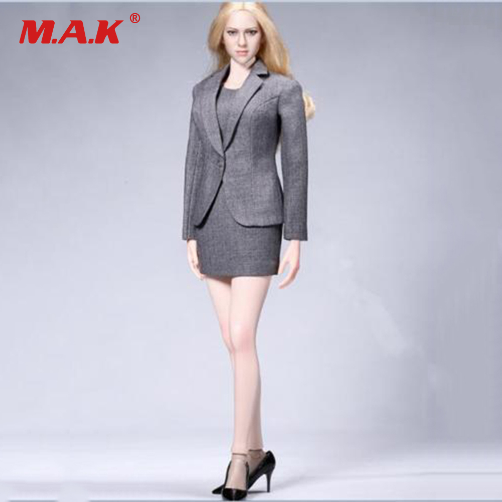 1:6 Весы acplay atx029 офисные гриль Женский костюм комплект и туфли из органической кожи Комплект Серый цвет для 12 дюйм(ов) PH действие firgure тела