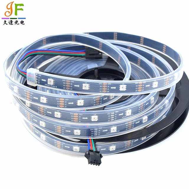 50M 10X5M APA102 C 30Leds/M Addressable 5050 RGB full color flexible ...