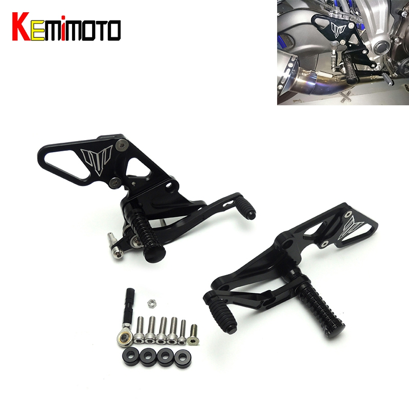 MT-07 FZ-07 MT07 CNC Adjustable Rear Sets Rearset Footrest Foot Rest Pegs For Yamaha MT-07 FZ-07 MT 07 FZ07 2014 2015 2016 2017 for yamaha mt 07 fz 07 mt07 fz07 rear seat cover cowl painted abs plastic for yamaha mt 07 fz 07 mt07 2014 2015 2016 new arrival